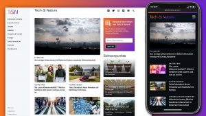 Das Online-Magazin Tech & Nature nach dem Relaunch © Trending Topics