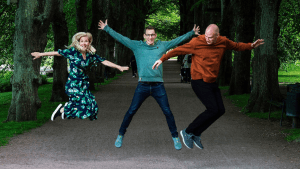 Pale Blue Dot-Partner Heide Lindvall, Hampus Jakobsson und Joel Larsson © Pale Blue Dot